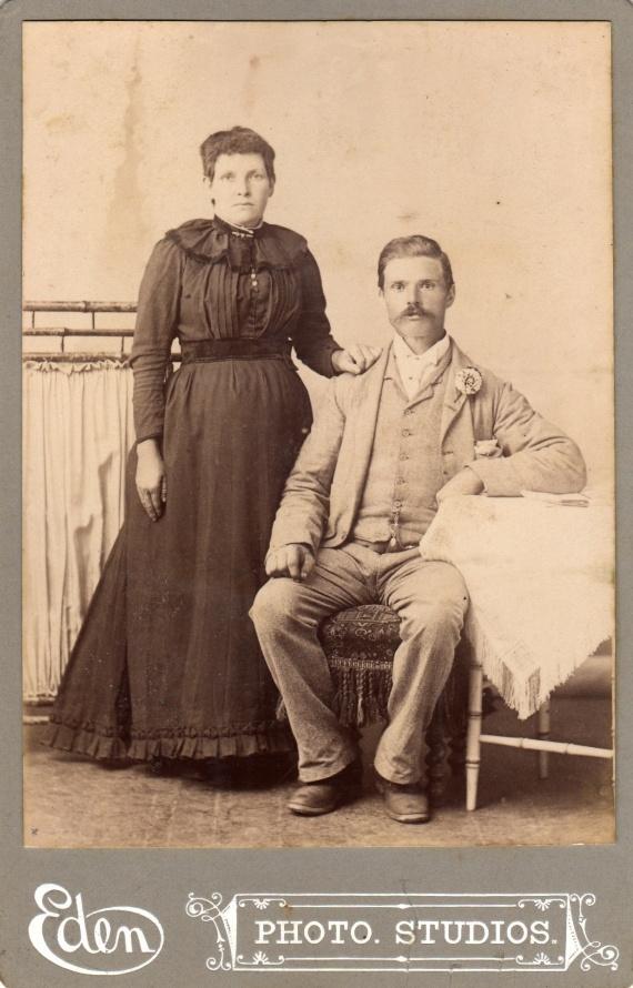 Eliza Jane and Garrett Josiah Haberley - courtesy of Susannah Cavill collectoin