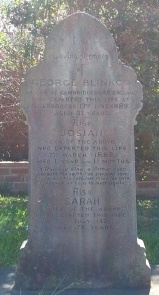 Gravestone of Josiah Blinkco, with his parents, George & Sarah