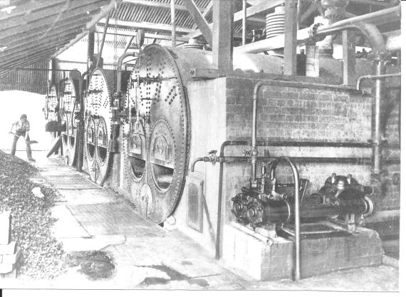 Four Lancashire Boilers, possibly in use at South Bulli Colliery, perhaps of similar type to that used in the Sassafras Saw Mill.